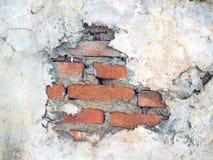 De oude muren zijn gebarsten stock afbeelding