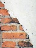 De oude muren zijn gebarsten stock fotografie