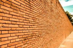 De oude muur in chiangmai Royalty-vrije Stock Foto's