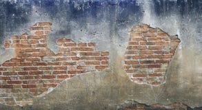 De oude muur van het baksteenblok Royalty-vrije Stock Foto's