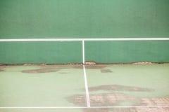 De oude muur van het Tennis royalty-vrije stock afbeelding