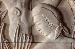 De oude muurschildering van de steenmuur Royalty-vrije Stock Afbeelding