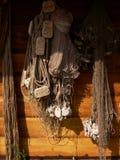 De oude Netten van de Visserij stock afbeeldingen