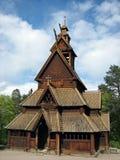 De oude Noorse Kerk van de Staaf Royalty-vrije Stock Foto