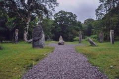 De oude open plek van de steen houten kiezelsteen royalty-vrije stock fotografie