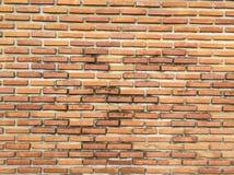 De oude oude oppervlakte van bakstenen muur rode grunge met de doorstane achtergrond van de cementtextuur Royalty-vrije Stock Foto