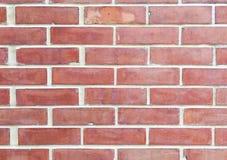 De oude oude oppervlakte van bakstenen muur rode grunge met de doorstane achtergrond van de cementtextuur Stock Afbeelding