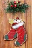De oude ornamenten van Kerstmis Stock Foto's