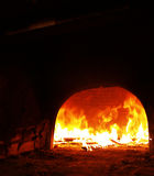 In de oude oven! stock foto