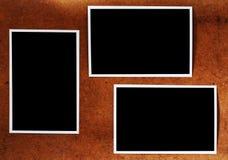 De oude pagina van het fotoalbum Stock Afbeelding
