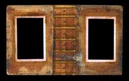 De oude pagina van het fotoalbum Stock Fotografie