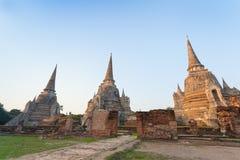 De oude pagodegroep meer dan 500 jaar Stock Afbeelding