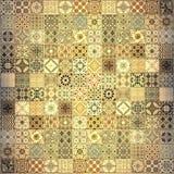 De oude patronen van muurkeramische tegels handcraft van royalty-vrije illustratie