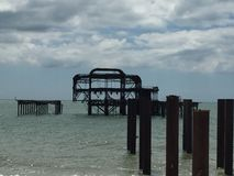 De oude Pijler van Brighton Stock Afbeelding
