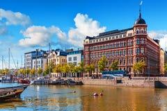 De oude pijler van de Stad in Helsinki, Finland royalty-vrije stock foto's