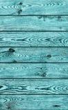 De oude Plattelander knoopte de Cyaantextuur van Planking Grunge van het Pijnboomhout Royalty-vrije Stock Foto's