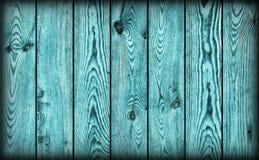 De oude Plattelander knoopte de Cyaantextuur van Planking Vignetted Grunge van het Pijnboomhout Royalty-vrije Stock Afbeelding