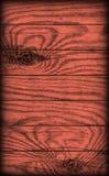 De oude Plattelander knoopte de Rode Textuur van Planking Vignetted Grunge van het Pijnboomhout Royalty-vrije Stock Foto's