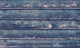 De oude plattelander schilderde gebarsten donkere houten textuur Royalty-vrije Stock Foto's