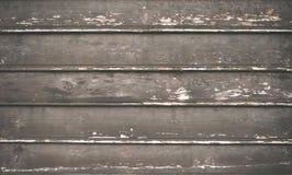 De oude plattelander schilderde gebarsten donkere houten textuur Stock Fotografie
