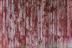De oude plattelander schilderde gebarsten donkere houten textuur of achtergrond Stock Afbeelding