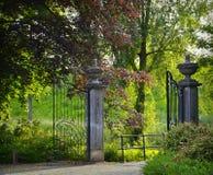 De oude poort van de kasteelingang Royalty-vrije Stock Fotografie