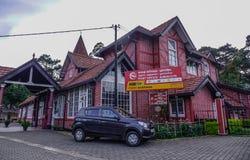 De oude postkantoorbouw in Nuwara Eliya stock afbeelding