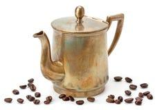 De oude Pot van de Koffie Stock Foto's
