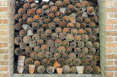 De oude potten van de Klei Stock Foto's