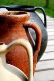 De oude potten van het amforaeind Royalty-vrije Stock Foto