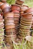 De oude potten van het stilleven Stock Afbeeldingen
