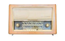 De oude radioontvanger van de laatste eeuw isoleert Royalty-vrije Stock Foto