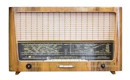 De oude radioontvanger van de laatste eeuw isoleert Royalty-vrije Stock Fotografie
