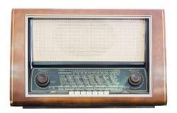 De oude radioontvanger van de laatste eeuw isoleert Stock Foto
