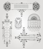 de oude reeks van de elementen uitstekende banner Stock Afbeelding