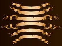De oude reeks van de lintbanner vector illustratie