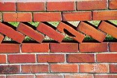 De oude Retro Omheining van de Bakstenen muur Royalty-vrije Stock Afbeelding