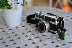 de oude retro wijnoogst van de camerastijl van de afstandsmeterfilm is cl stock fotografie
