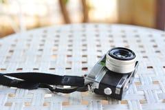 de oude retro wijnoogst van de camerastijl van de afstandsmeterfilm is cl stock foto
