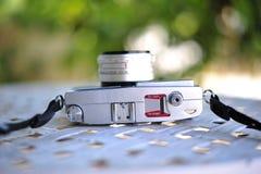de oude retro wijnoogst van de camerastijl van de afstandsmeterfilm is cl stock afbeeldingen