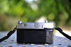 de oude retro wijnoogst van de camerastijl van de afstandsmeterfilm is cl stock foto's