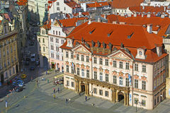 De oude rijke bouw in Praag Royalty-vrije Stock Foto