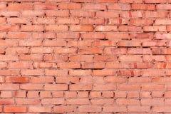 De oude rode achtergrond van de bakstenen muurtextuur stock foto's