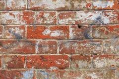 De oude rode achtergrond van de bakstenen muurtextuur royalty-vrije stock foto's