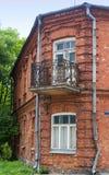 De oude rode baksteenbouw Royalty-vrije Stock Fotografie