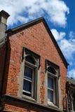 De oude rode baksteenbouw Royalty-vrije Stock Foto's