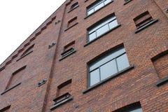 De oude rode baksteenbouw Stock Foto