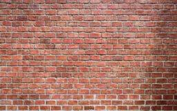 De oude rode bakstenen muur Stock Fotografie