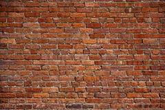 De oude rode bakstenen muur Royalty-vrije Stock Foto's