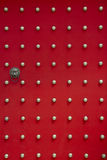 De oude rode deur van de Tempel royalty-vrije stock fotografie